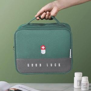Утолщенной многослойное медицинский ящик для большого Ёмкость дома Портативный Водонепроницаемый ткань медицинский шкаф для хранения ящиков аптечка первой помощи|Аварийные наборы|   | АлиЭкспресс