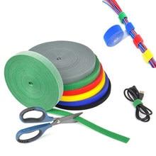 3M/Roll Reusable Kabel Organizer Hook Loop Fasteners Nylon Cable Ties Velcros Strap Wire Ties Magic tape DIY Accessories