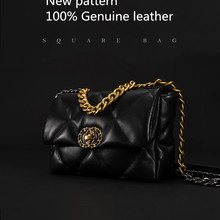 The single shoulder Handbag Genuine leather luxury handbags women bags
