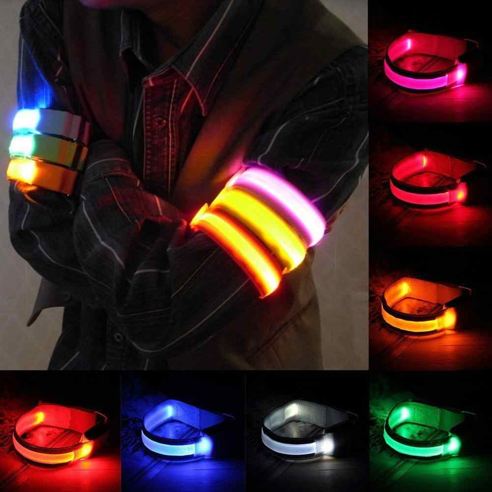 Outdoor Sport Night Running Oversleeve LED Lamp Safety Belt Arm Legs Warning Bracelet Cycling Party Luces