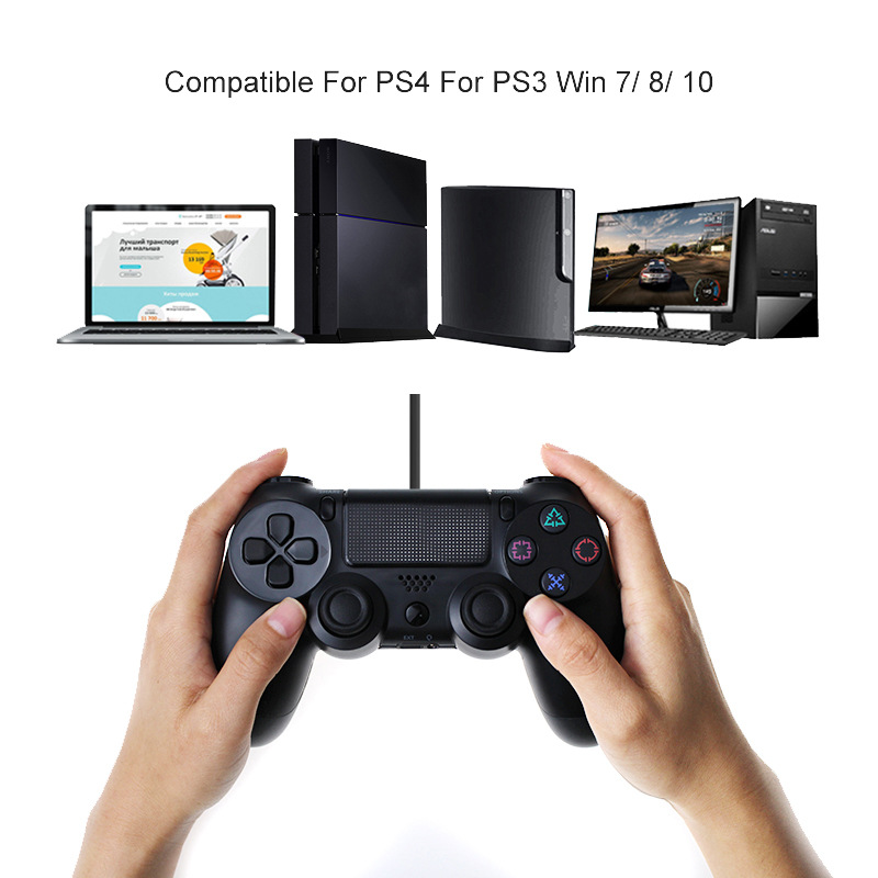 4 2 USB Wired Controller Joypad Gamepad For Sony PS4/PS3 Controller PlayStation 4 Dualshock Console Gaming Joystick with 2.2M Cable (5)