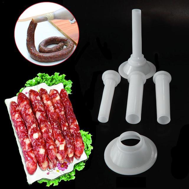 3 PCS/Set Food Grade Quality Meat Grinder Handmade Sausage Stuffing Tube Sausage Maker Stuffer