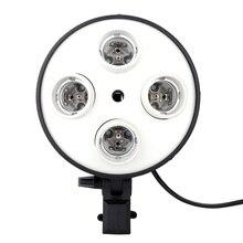 Andoer 4 で 1 E27 ベースソケットライトランプ電球ホルダーアダプタ写真ビデオスタジオソフトボックス + 写真スタジオ折りたたみソフトボックス