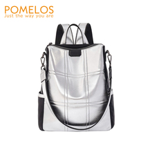 POMELOS Backpack Women Fashion School Backpack Travel New Arrival High Quality PU and Oxford Rucksack Women Luxury Backpack