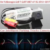 לודמילה רכב אינטליגנטי חניה מסלולים מצלמה עבור פולקסווגן גולף 7 Golf7 MK7 A7 5G 2012 ~ 2017 רכב הפוך מבט אחורי מצלמה|מצלמת רכב|   -
