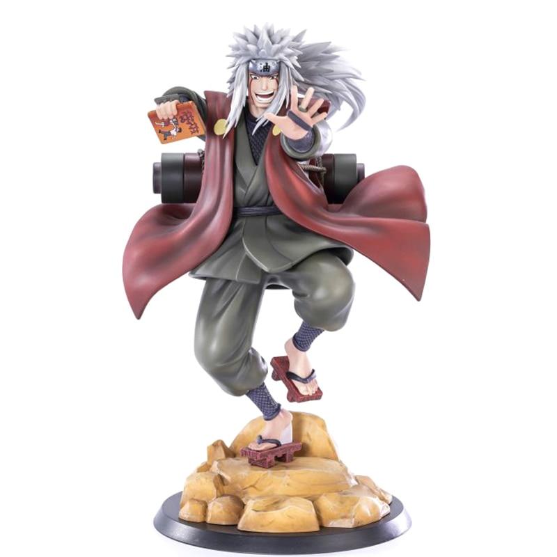Figura de acción de Naruto Shippuden Gama Sennin GK, modelo de Anime de 20cm estatua de PVC, muñeco coleccionable Jiraiya para decoración de escritorio