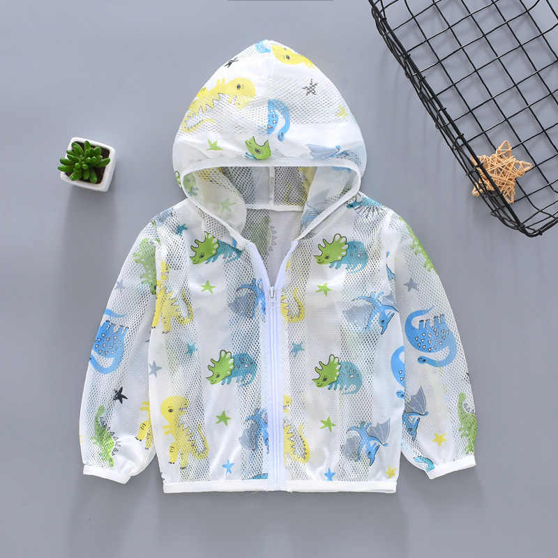 ฤดูร้อน hoodies การ์ตูนทารกเด็กวัยหัดเดินสาวสาว Coat เสื้อผ้าเด็กเสื้อแจ็คเก็ตเด็ก UV Sun-ป้องกันเสื้อผ้าเสื้อ