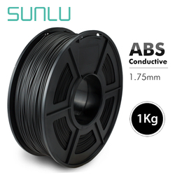 1.75mm ABS przewodzące włókno do drukarki 3D włókno ABS przewodzące Consumabel drukuj produkty antystatyczne 1kg ze szpulą