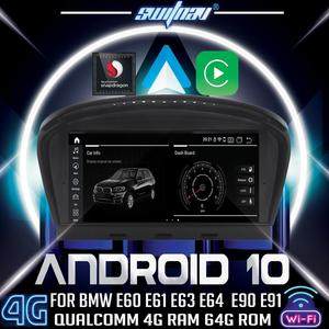 Image 1 - Android 10 4+64 CAR player FOR BMW 5 Series E60 E61 E63 E64 BMW 3 Series E90 E91 E92 car dvd audio stereo GPS monitor all in one