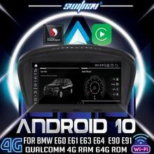Android 10 4 + 64 jogador do carro para bmw série 5 e60 e61 e63 e64 bmw série 3 e90 e91 e92 carro dvd áudio estéreo gps monitor tudo em um