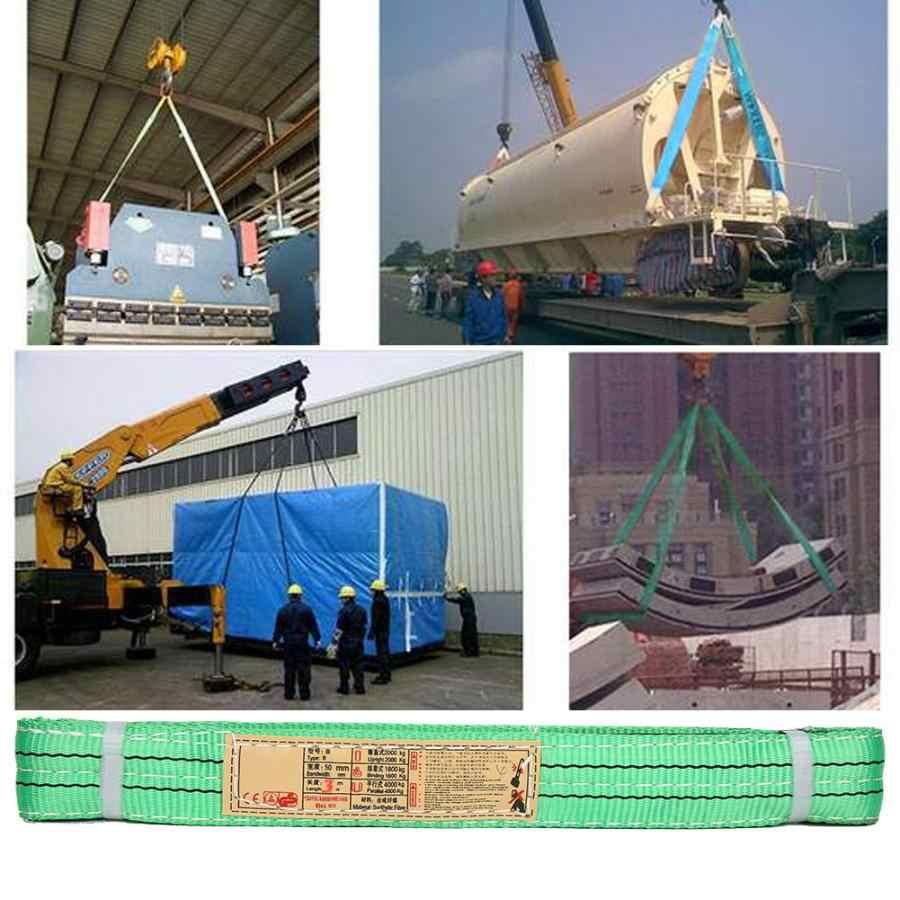 50mm Polyester Synthetic Fiber Lifting Sling 30 Ton 632g 3 Meter Hoisting Strap Hoist Webbing 100/% Brand New for Industry