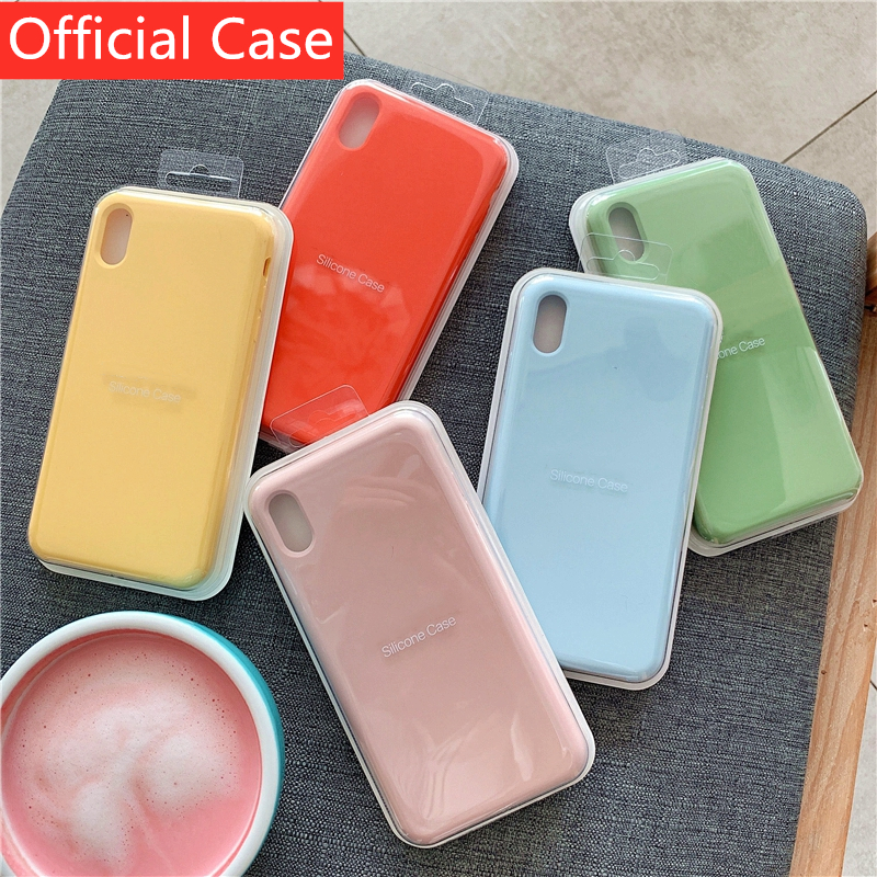 Silicone-Case Coque Official-Cover 6-Plus case Apple iPhone XR Original 6S XS for 7/8-plus/X