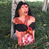 Scary Party Supplies Bar Club Bloody Woman Corpse Horror Halloween Decoration Haunted House Latex Ghost Creepy Realistic Props