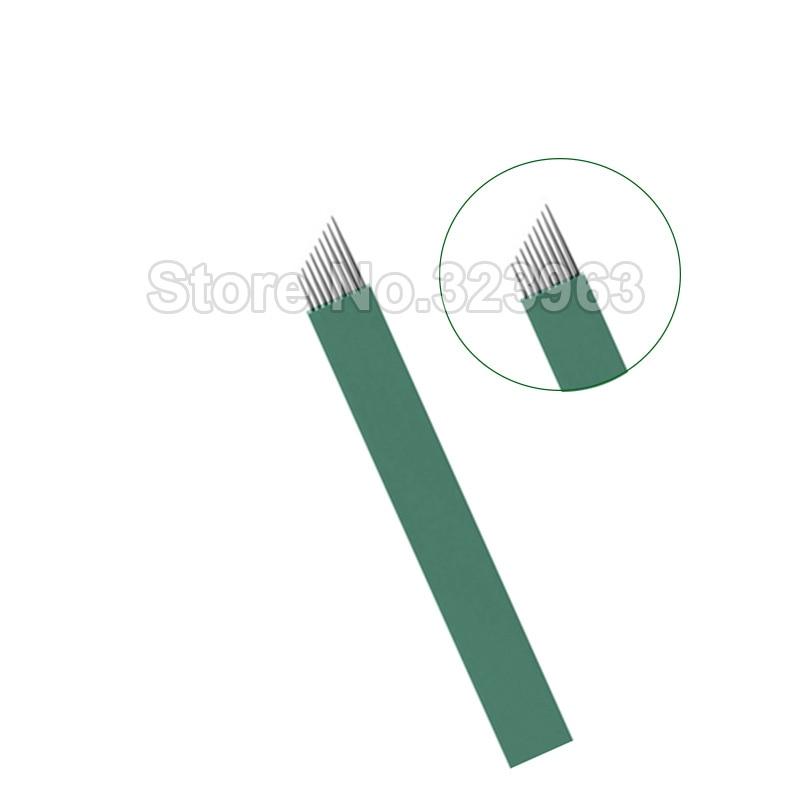 0 16mm Lamina Tebori Microblading Needles for Permanent Makeup Blade Manual Pen Tattoo Needles 9 12 14 15 18 2115U 16U 12 U 18U in Tattoo Needles from Beauty Health