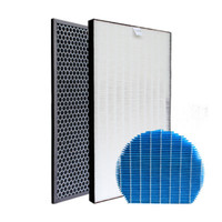 1 set of Active Carbon Filters Humidifying filter for Sharp Air Purifier KC D50/E50/F50/E40/50TH1 W