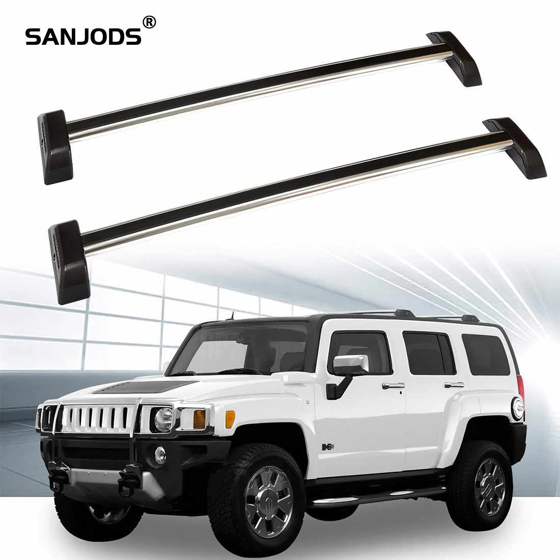 Sanjods Car Roof Rack Aluminum Roof Rack For 2006 2007 2008 2009 2010 2011 2012 2013 Hummer H3 Luggage Carrier Top Cross Bars Roof Racks Boxes Aliexpress