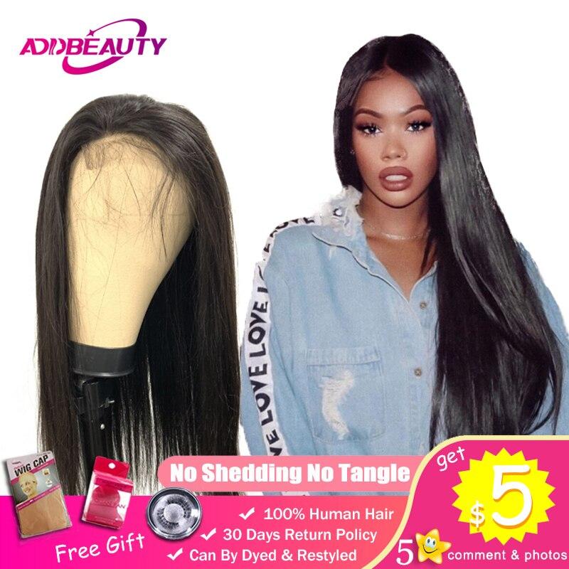 Straight HD Transparent Lace Frontal 4x4 5x5 Closure DIY Custom Wigs For Black Women Free Part Brazilian Virgin 150% Density