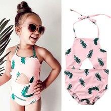 Детский тропический купальник для маленьких девочек; одежда для плавания; танкини; купальник бикини