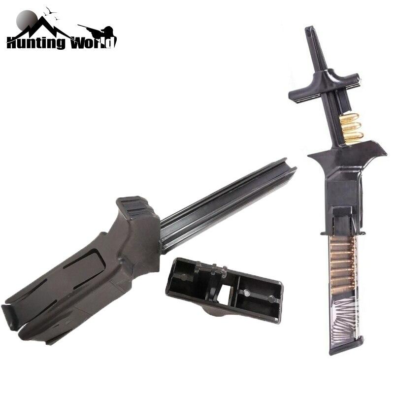 Carregador de revista carregador de velocidade tático para 9mm .40 .357 .45 .22 22lr e quase glock 1911 cz 75 p320 pistola dropshipping