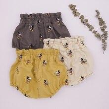 Disney Baby girls pants Summer toddler Newborn infant Cute Diaper cover Bloomers Shorts Mickey Mouse Print pantalon ropa bebe