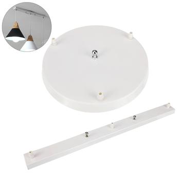 3 otwory lampa wisząca podstawa żyrandole oprawy oświetleniowe DIY lampa sufitowa płyta podstawowa okrągłe prostokątne akcesoria oświetleniowe tanie i dobre opinie Beveace none Lamp Bases Aluminium 3 Holes