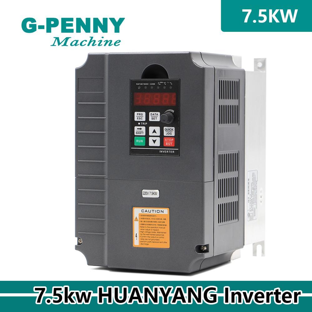 CNC Vector Control Inverter 220 v/380 v 7.5kw GT VFD Variable Frequency Drive 3HP Ausgang CNC spindel Elektrische motor Fahrer