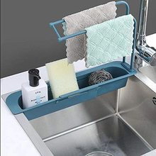 Kitchen Sink Strainer Soap-Holder Rack-Storage Drainage-Basket Sponge Retractable