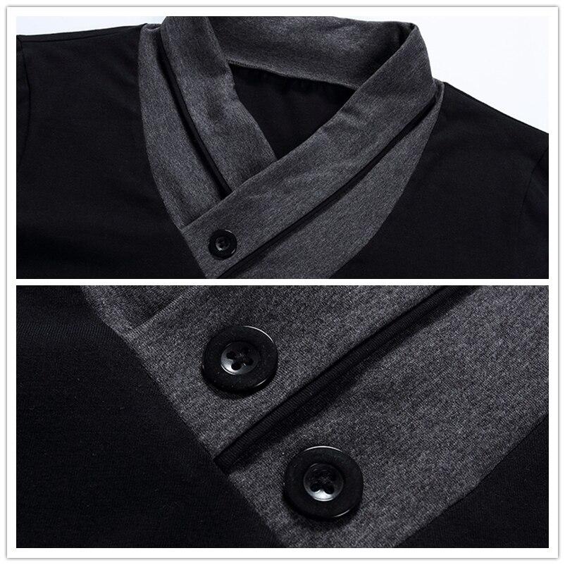 Image 4 - TFETTERS Brand Autumn Fashion Men T shirt T Shirt Men Patchwork V Neck Long Sleeve Slim Fit T Shirt Cotton Plus Size 4XLt-shirt cottonmen t-shirtt-shirt men -