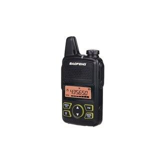 Image 2 - جهاز اتصال لاسلكي صغير Baofeng BF T1 LCD UHF FM Ham CB راديو اتجاهين للأطفال 1500mAh HF جهاز إرسال واستقبال البيني