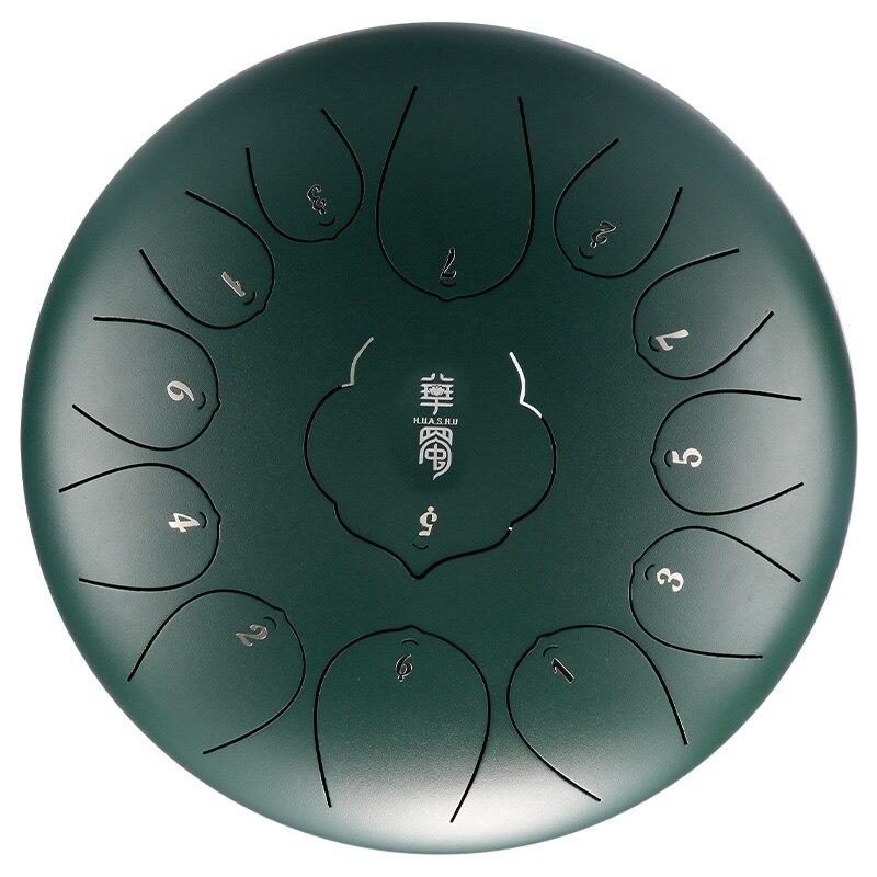 Барабан Handpan, 12 дюймов, 13 тонов, стальной барабан для языка, ручной барабан с мягкой сумкой для барабана и парой маллетов, барабан для йоги, медитации|Барабан| | АлиЭкспресс