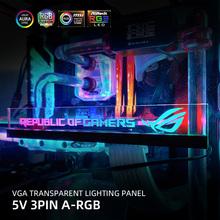 Transperant karty wideo Panel boczny konfigurowalny RGB VGA pokrywa boczna akrylowa dostosuj oświetlenie pokładzie PC MOD niestandardowe 5V3PIN 12V4PIN tanie tanio bykski NONE CN (pochodzenie) Karta graficzna AMD and INTEL 0 9 W Łożysko olejowe 100 000 godzin Brak RPM 17dBA Obsługa RGB