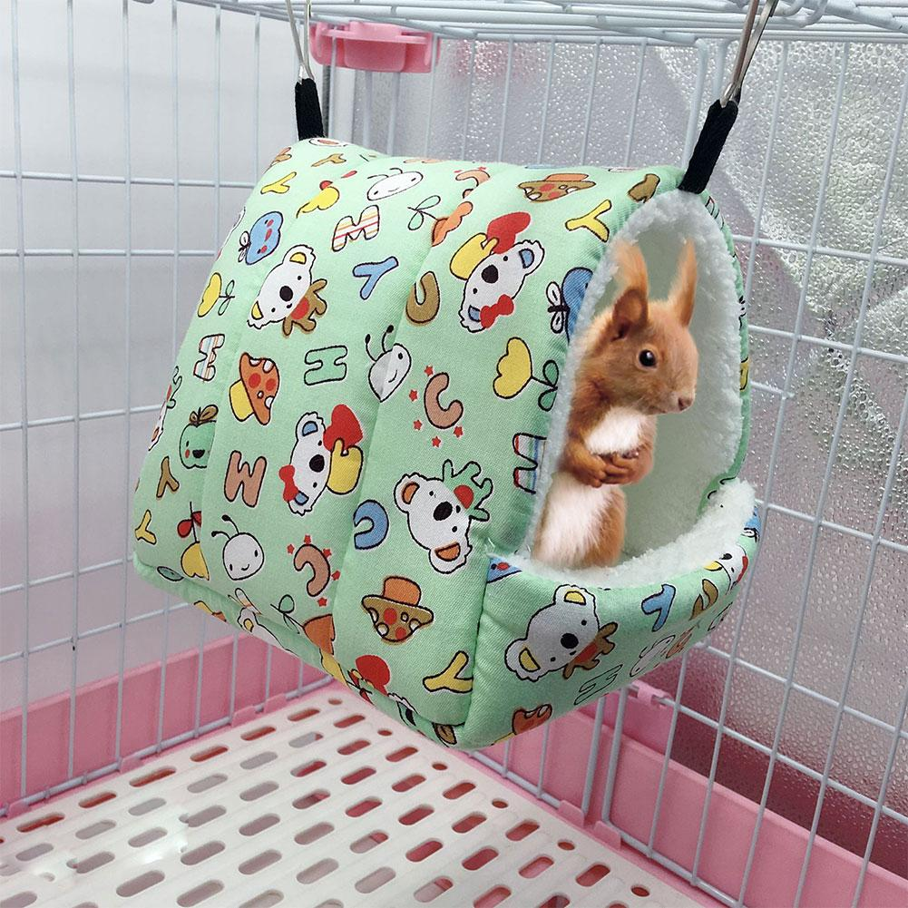 Winter Fleece Guinea Pig Hamster Bed House Hammock Warm Squirrel Hedgehog Chinchilla Sugar Glider Bed House Cage Accessories