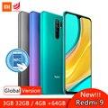 Global Version Xiaomi Redmi 9 4GB 64GB / 3GB 32GB Smartphone NFC Helio G80 13MP Quad Rear Camera 5020mAh Battery 6.53 Display