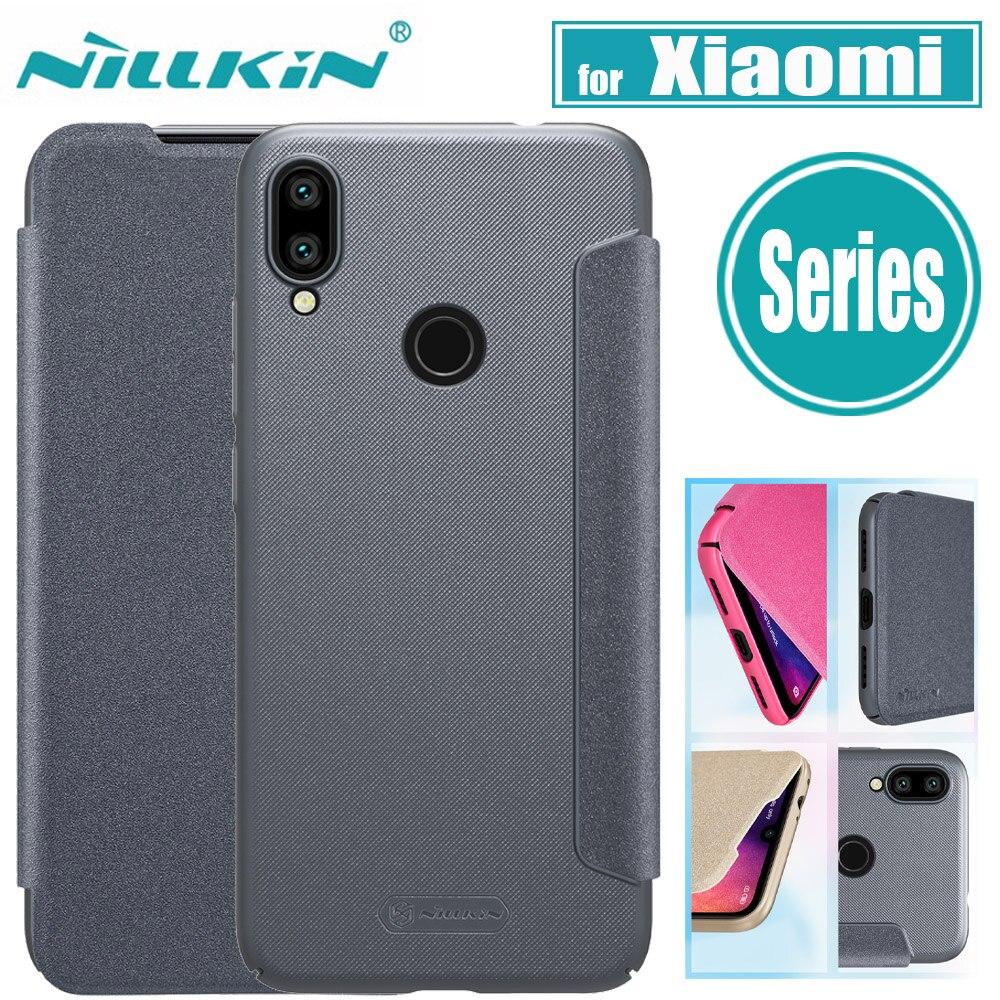 Xiaomi Redmi Note 7/6 Pro Case K20 Pro Cover Nillkin Hard PC Leather Flip Case for Xiaomi Mi 9 SE 9T Pro CC9 CC9E A3 Funda Case
