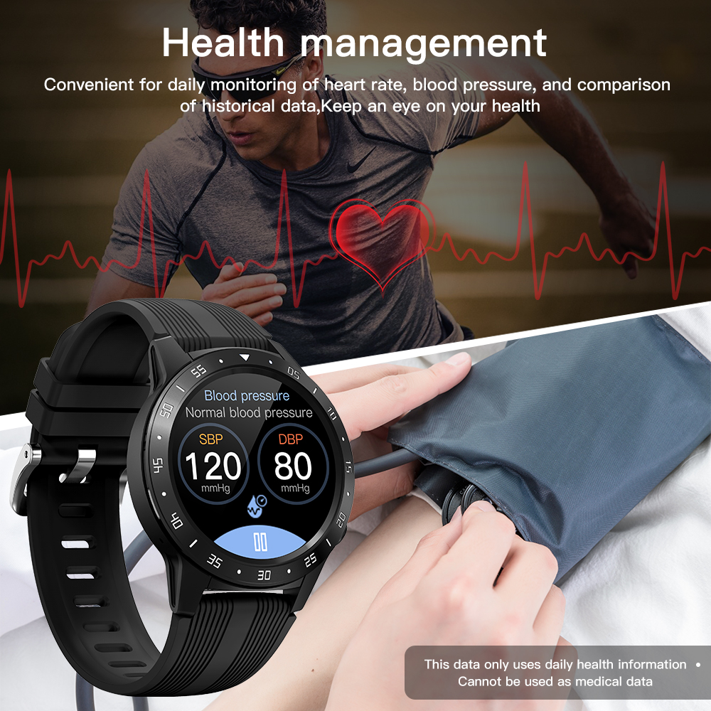 H2d987cbab65442acaf0cad92a24f833dl GPS Smartwatch Men With SIM Card Fitness Compass Barometer Altitude M5 Mi Smart Watch Men Women 2021 for Android Xiaomi