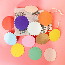125Pcs 6cm Paper Gift Label Tag Handmade Jewelry Charms Round Wedding Favors Christmas Cookies Decorative Mix 13color