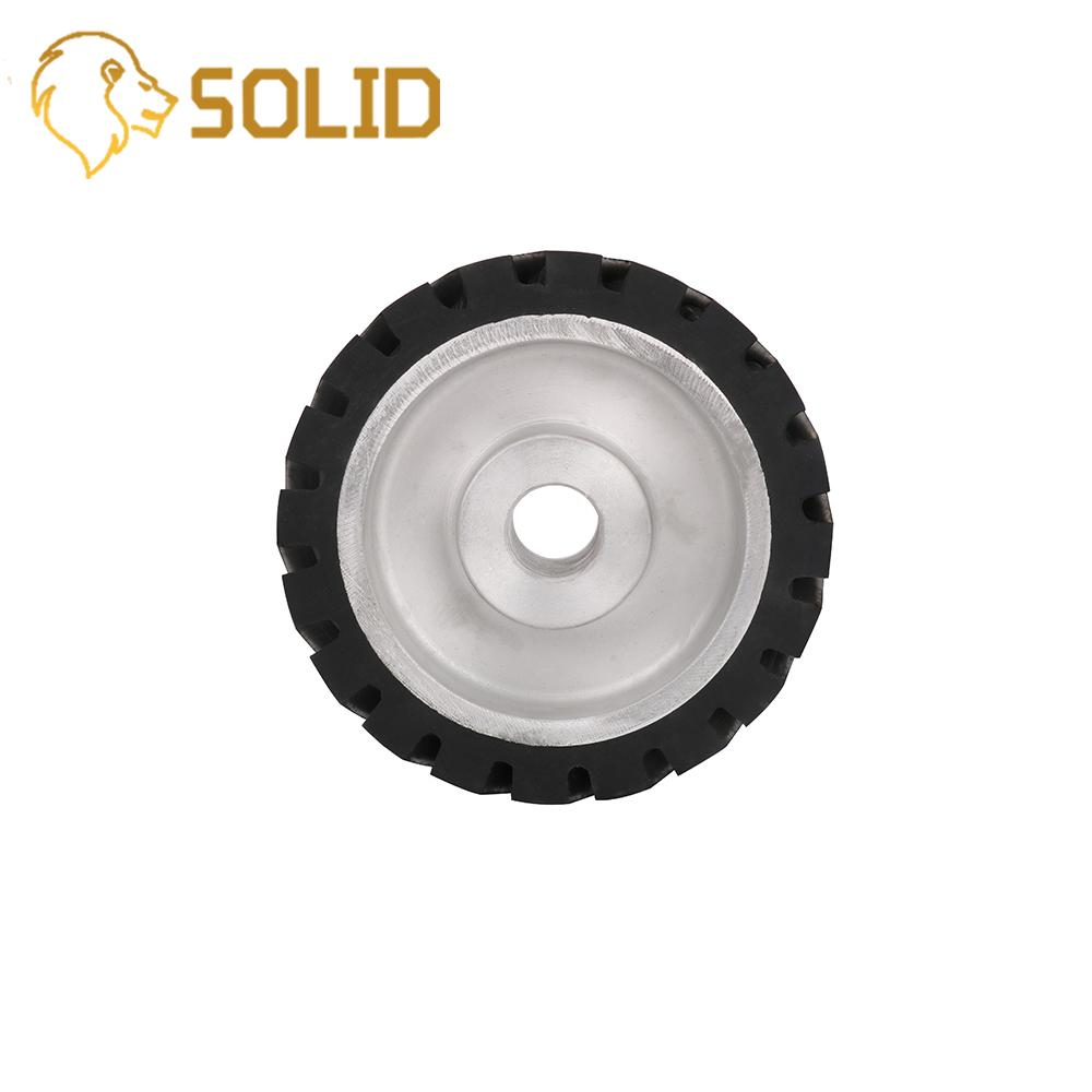Contact Wheel 150X50mm Serrated Belt Grinder Contact Wheel Rubber Wheel For Abrasive Sanding Belt 1Pc