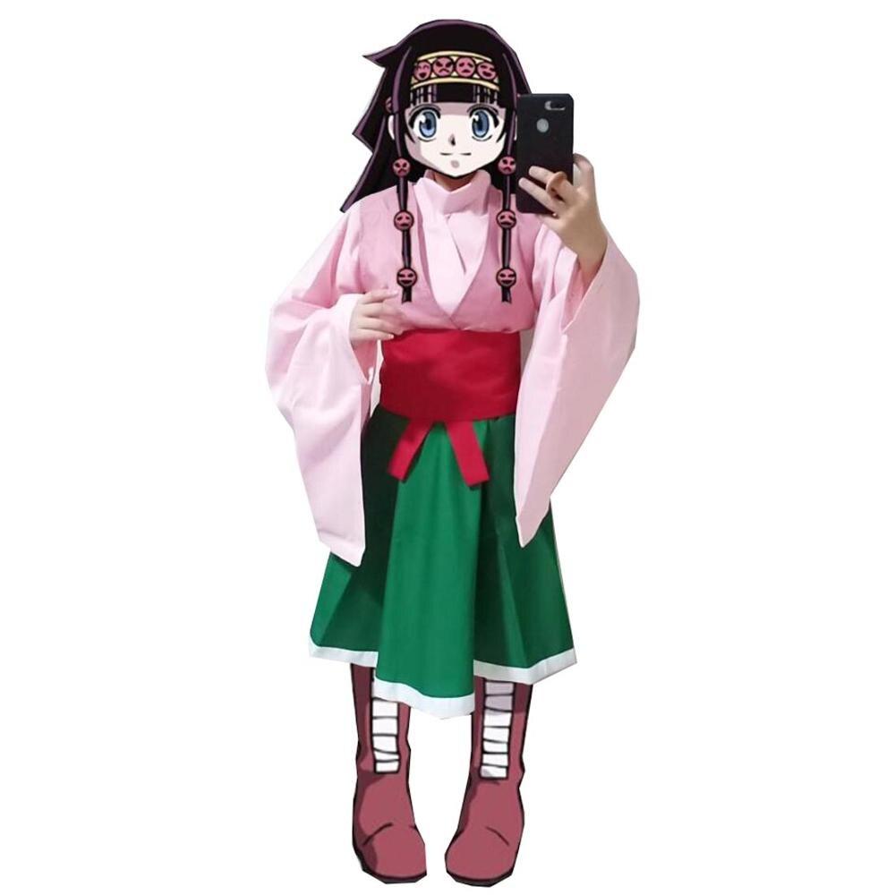 2020 hunter x hunter cosplay traje caçador x caçador alluka zoldyck cosplay traje roupas aruka zorudikku costume