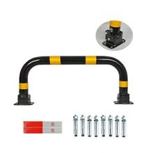 Gantry Lock removable bollard parking lot guide barrier yellow black steel traffic bollard and vehicle detector parking