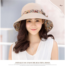 2019 new hat for women Summer sun panama sombrero Anti-UV beach hats Bowknot large visors wide brim