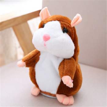 Cartoon Learn to Speak Toddler Little Hamster Cute Santa Repetition Doll Electric Children's Plush Toy hamster ball electric toy plush hamster electric toys scroll walk little toy animal for children gift electronic pets toy