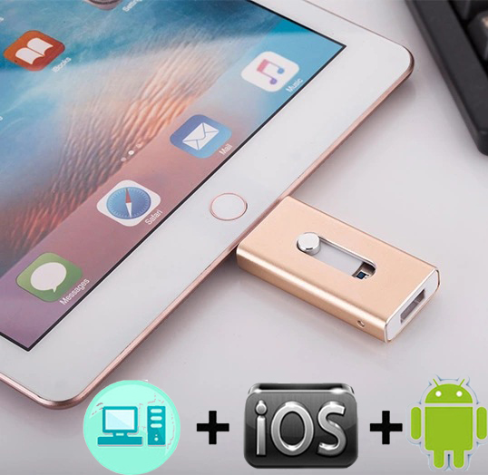2019 New IOS Usb Flash Drive For IPhone/iPad /Android Phone USB Stick For IPhone6 7 8 X XS XR Pendrive 128GB Disk On Key Usb 3.0