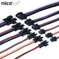 5 Par 20AWG de 2pin 3pin 4pin 5pin 6pin conector JST 15cm hembra Cable para 3528 de 5050 RGB RGBW WS2801 LED terminales de tira