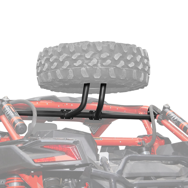 KEMIMOTO UTV Spare Tire Carrier Holder Mount Rack Frame for CAN AM Maverick X3 Max X RC / RS / MR / DS Turbo R 2017 2021