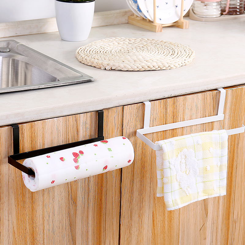 New-style Kitchen Cling Film Storage Rack Cabinet Nail-free Roll Paper   Shelf Free Punch Household Towel Hanger YHJ121606