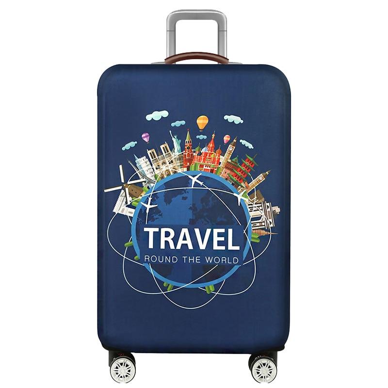 HMUNII карта мира, дизайнерский защитный чехол для багажа, Дорожный Чехол для чемодана, эластичные пылезащитные Чехлы для 18-32 дюймов, аксессуары для путешествий - Цвет: E-Luggage cover