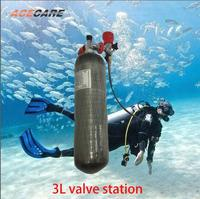 Acecare 3L Hpa Scuba Carbon Fiber Tank With Valve Station Air Refles Pcp Condor for Diving Compressor 2019