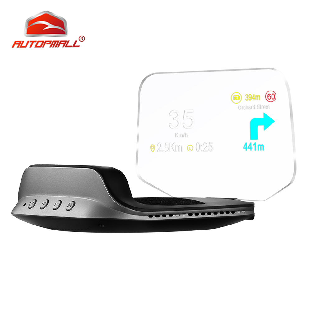 C3 Navigation Mirror HUD OBD2 GPS Dual Mode OBD2 Head Up Display GPS HUD Digital MPH KMH Speedometer Water amp Oil Temp RPM Voltage