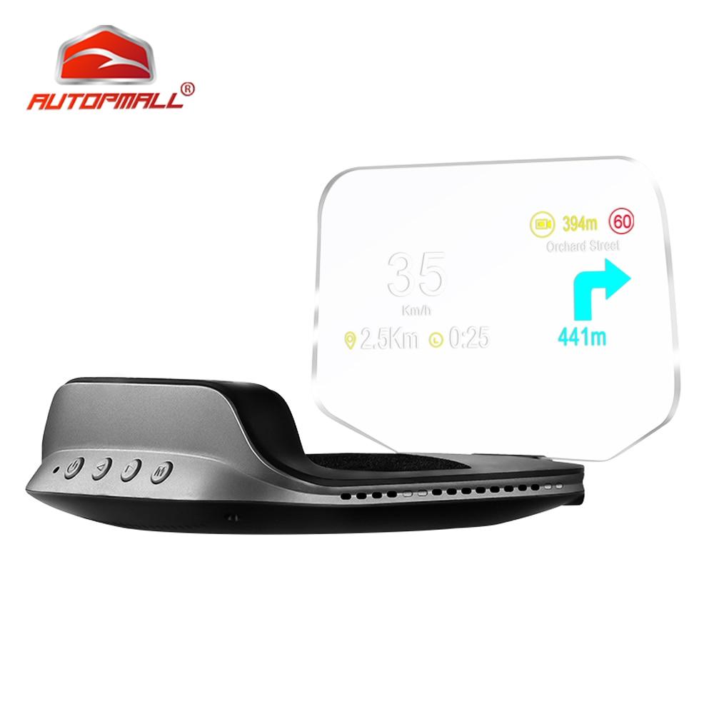 C3 miroir de Navigation HUD OBD2 + GPS double Mode OBD2 affichage tête haute GPS HUD numérique mi/h KMH compteur de vitesse température de l'eau et de l'huile tr/min tension
