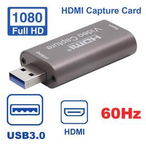 USB3.0 HDMI Computer Teaching 4K 1080P Mini Portable Box Grabber Video Card Audio Broadcast 60Hz Live Streaming